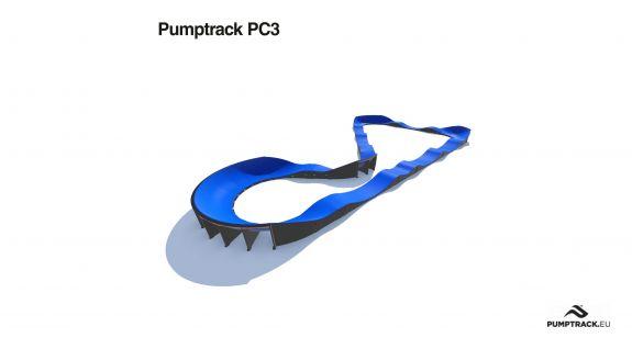 Pumptrack aus Verbundmaterial PC3