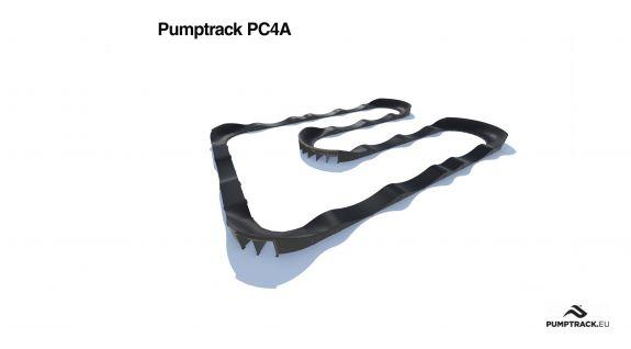 Pumptrack aus Verbundmaterial PC4A